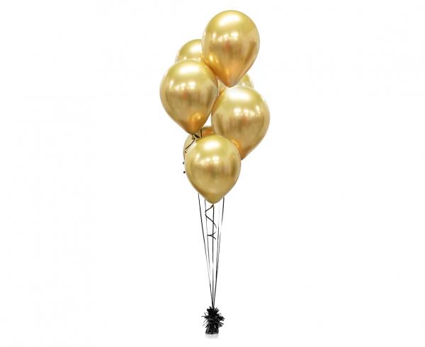 Μπαλόνια Latex Platinum Gold 30εκ – 7 Τεμάχια