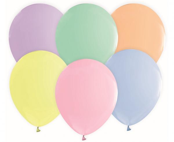 Μπαλόνια Latex Pastel 30εκ – 50 Τεμάχια