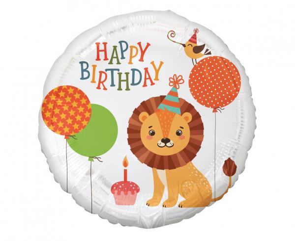 Μπαλόνι Foil Happy Birthday Lion – 45εκ