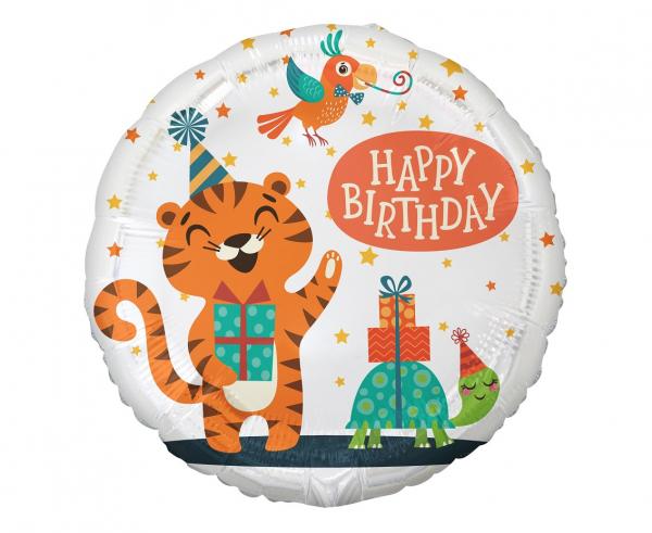 Μπαλόνι Foil Happy Birthday Tiger – 45εκ