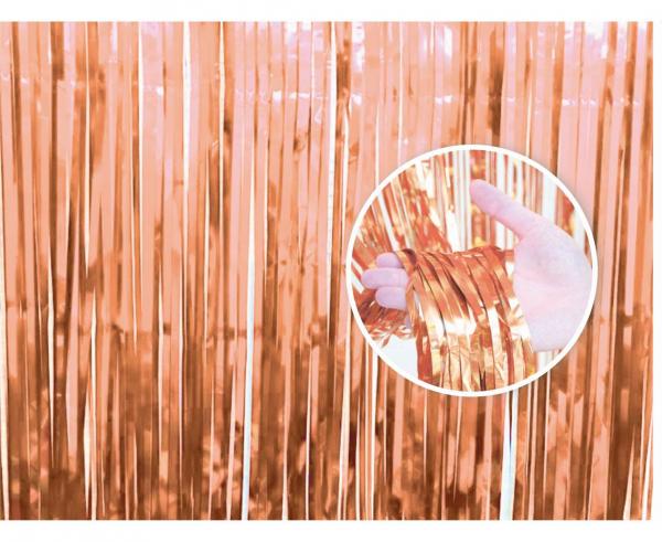 Διακοσμητική Κουρτίνα Ροζ Χρυσή 90×240εκ.