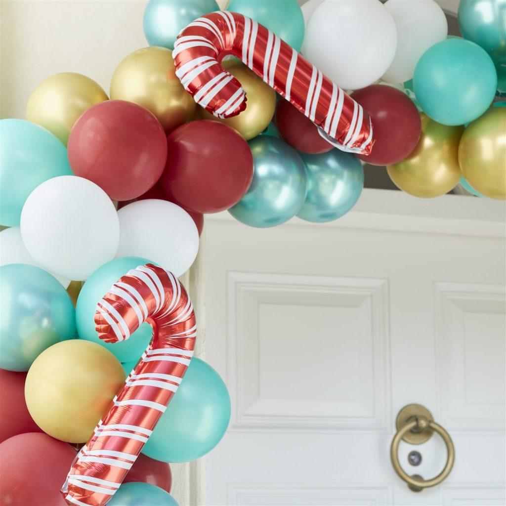 Χριστουγεννιάτικη Γιρλάντα Μπαλονιών για Πόρτα – Candy Cane